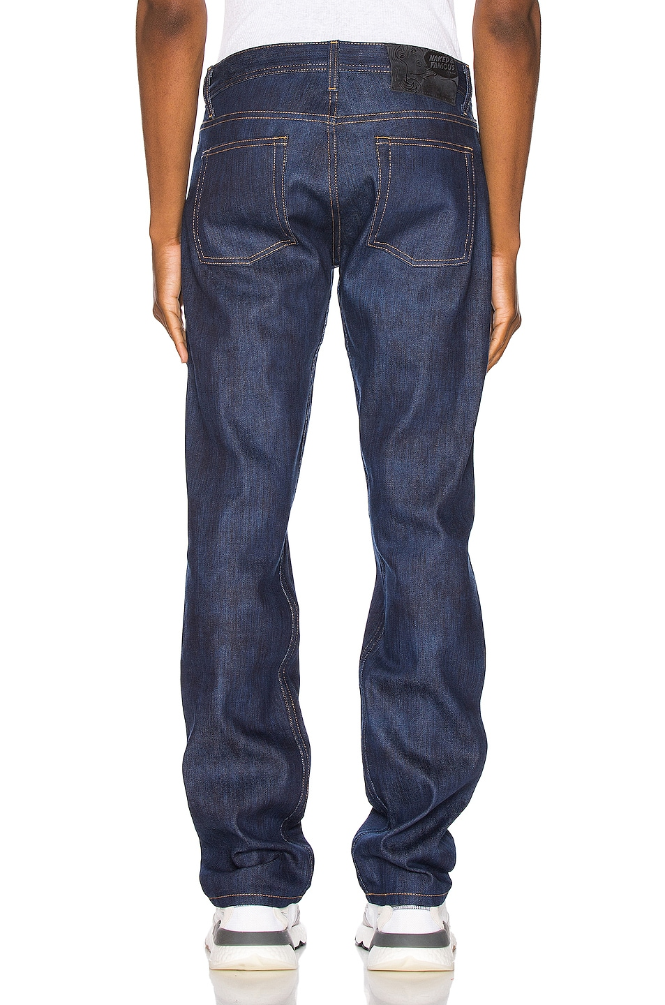 Image 3 of Naked & Famous Denim Weird Guy Jeans in Kasuri Stretch Selvedge