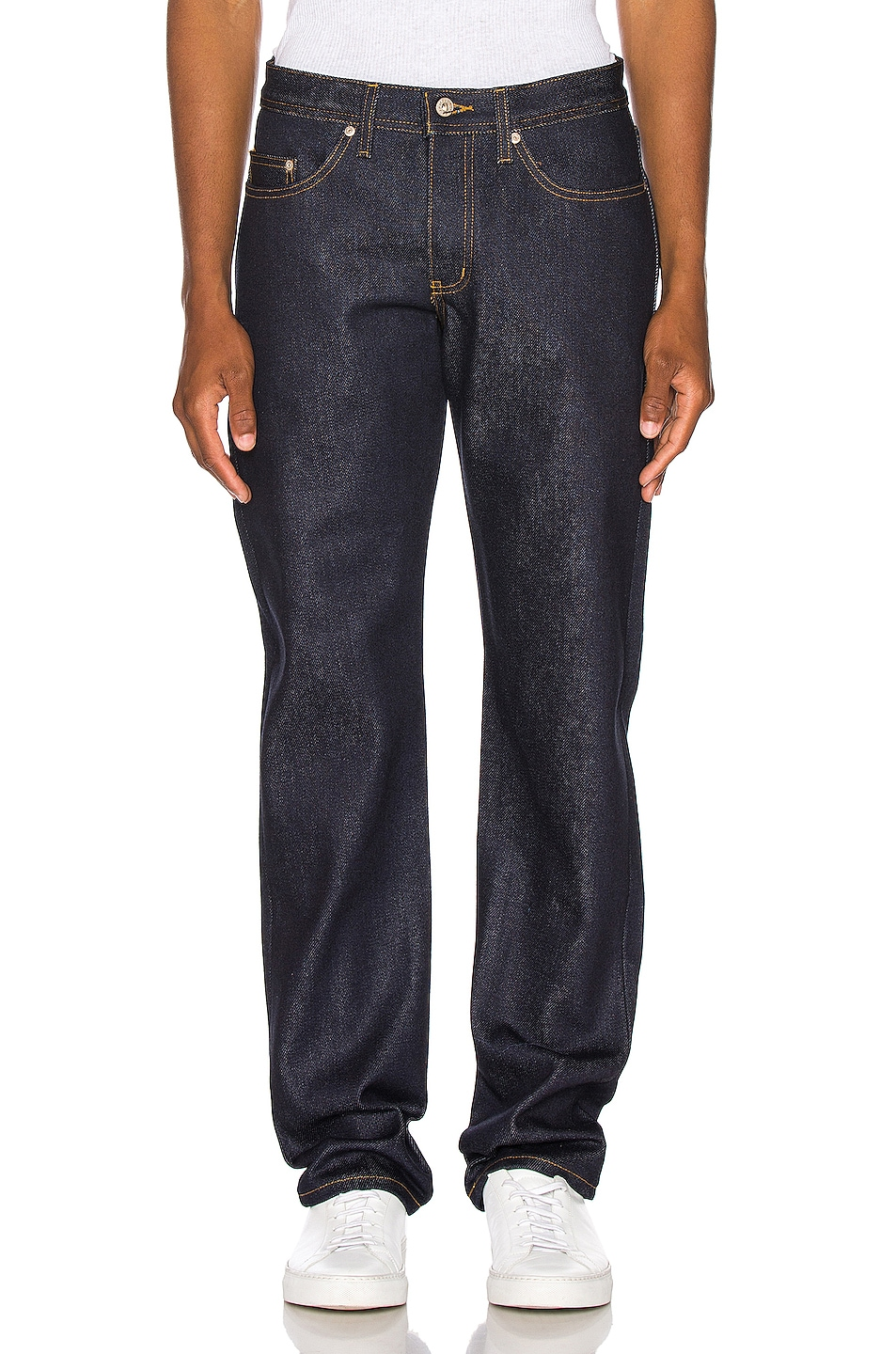 Image 1 of Naked & Famous Denim Weird Guy Jeans in Elephant 8 Supima Soft Selvedge
