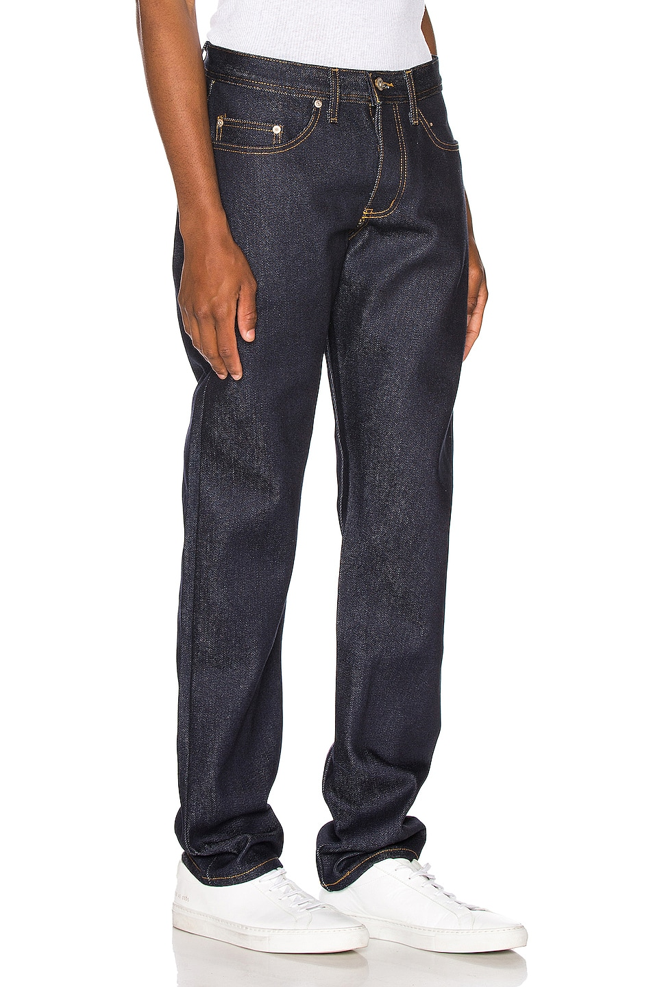 Image 2 of Naked & Famous Denim Weird Guy Jeans in Elephant 8 Supima Soft Selvedge