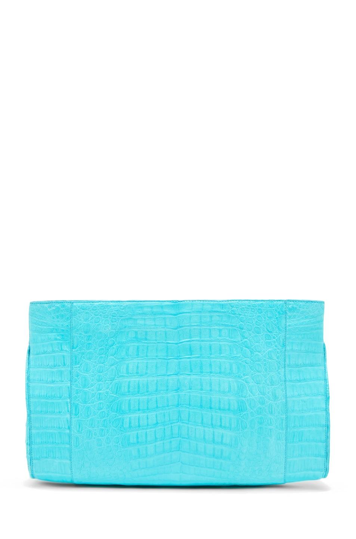 Image 1 of Nancy Gonzalez Crocodile Clutch in Blue