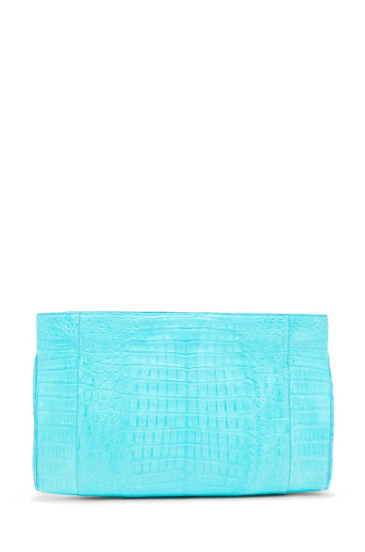 Image 2 of Nancy Gonzalez Crocodile Clutch in Blue