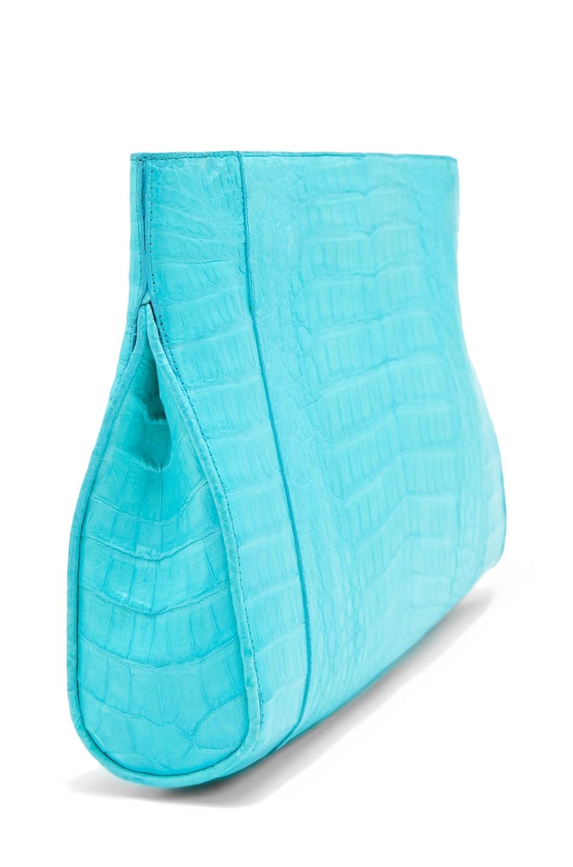 Image 3 of Nancy Gonzalez Crocodile Clutch in Blue