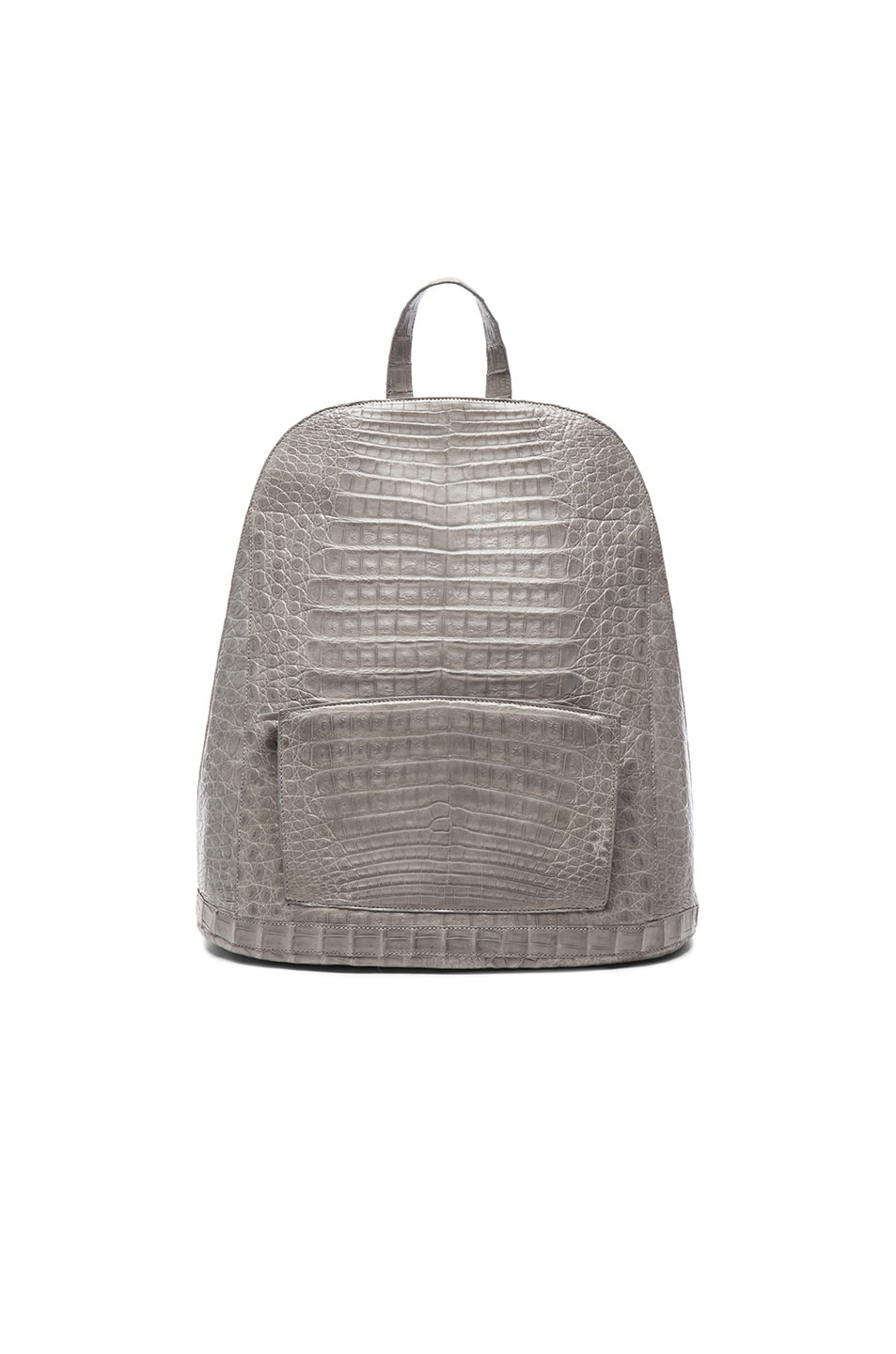 Image 1 of Nancy Gonzalez Crocodile Backpack in Grey