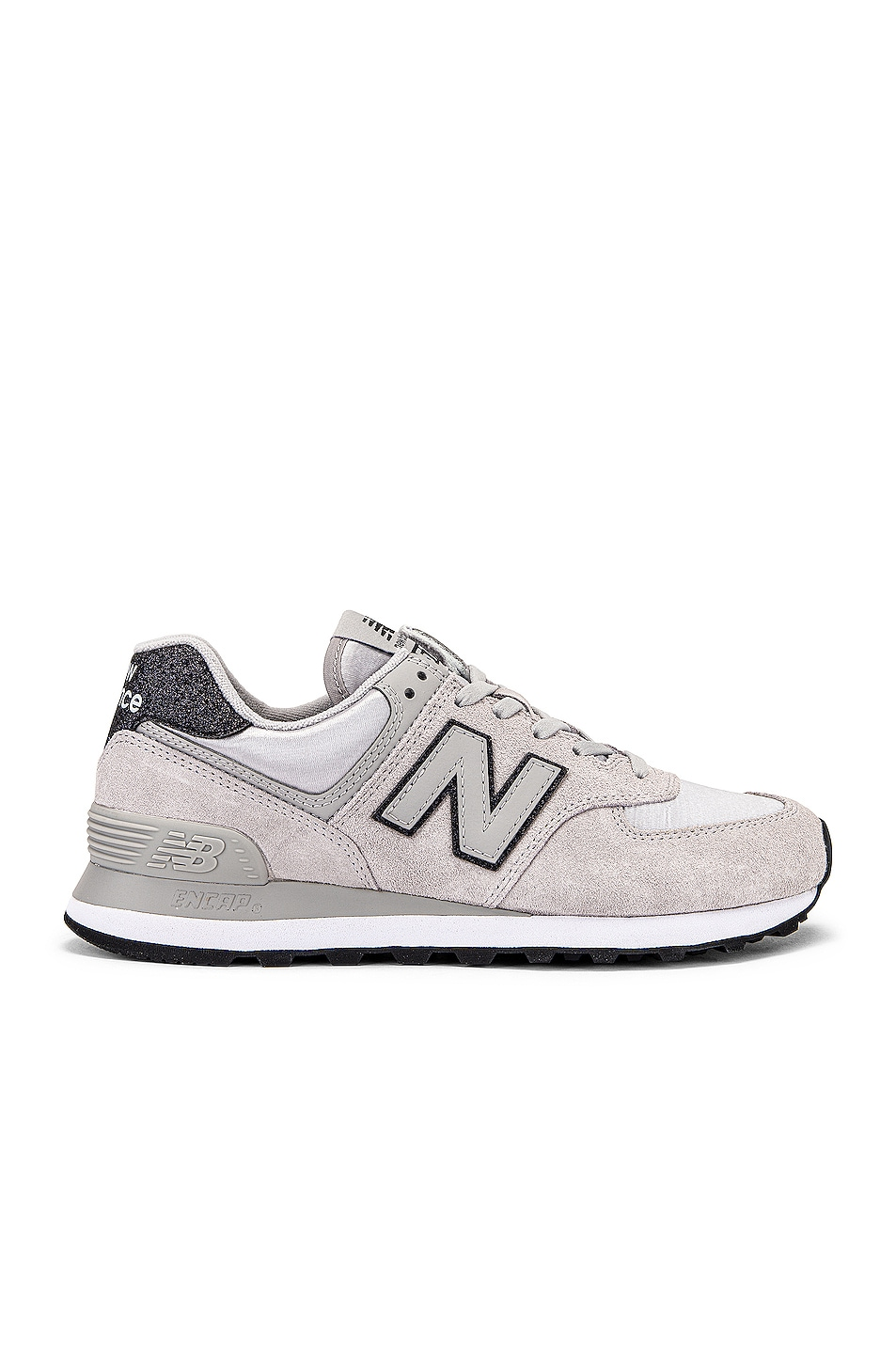 Image 1 of New Balance 574 Sneakers in Rain Cloud & White Suede