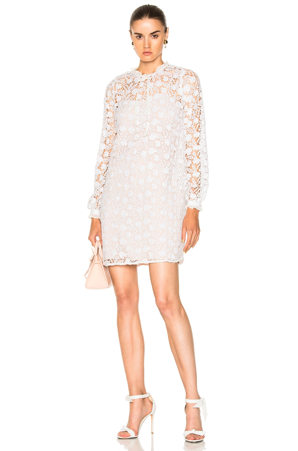 Image 1 of Needle & Thread Crochet Lace Dress in White