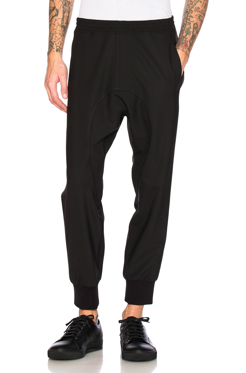 Image 1 of Neil Barrett Tuxedo Fine Gabardine Trousers in Black