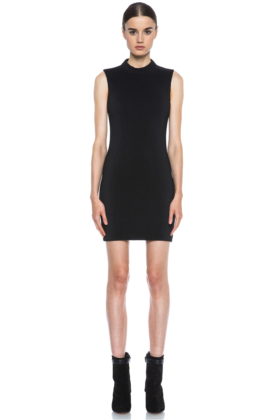 Image 1 of Neil Barrett Cannete Poly Pencil Dress in Black