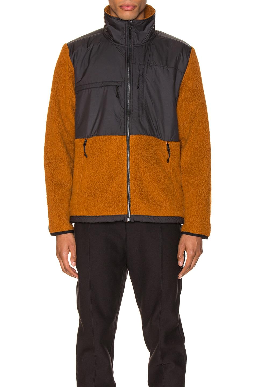 Image 2 of The North Face Black Box Denali Fleece Jacket in Caramel Cafe & TNF Black