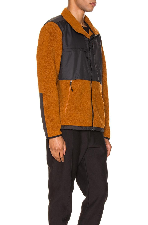 Image 3 of The North Face Black Box Denali Fleece Jacket in Caramel Cafe & TNF Black