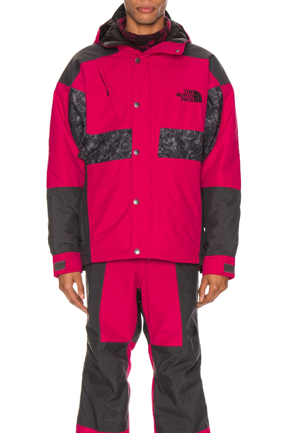 Image 1 of The North Face Black 94 Rage WP Synthetic Insulated Jacket in Rose Red & Asphalt Grey