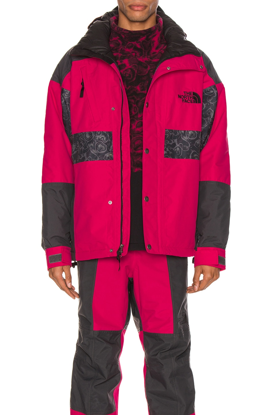 Image 2 of The North Face Black 94 Rage WP Synthetic Insulated Jacket in Rose Red & Asphalt Grey