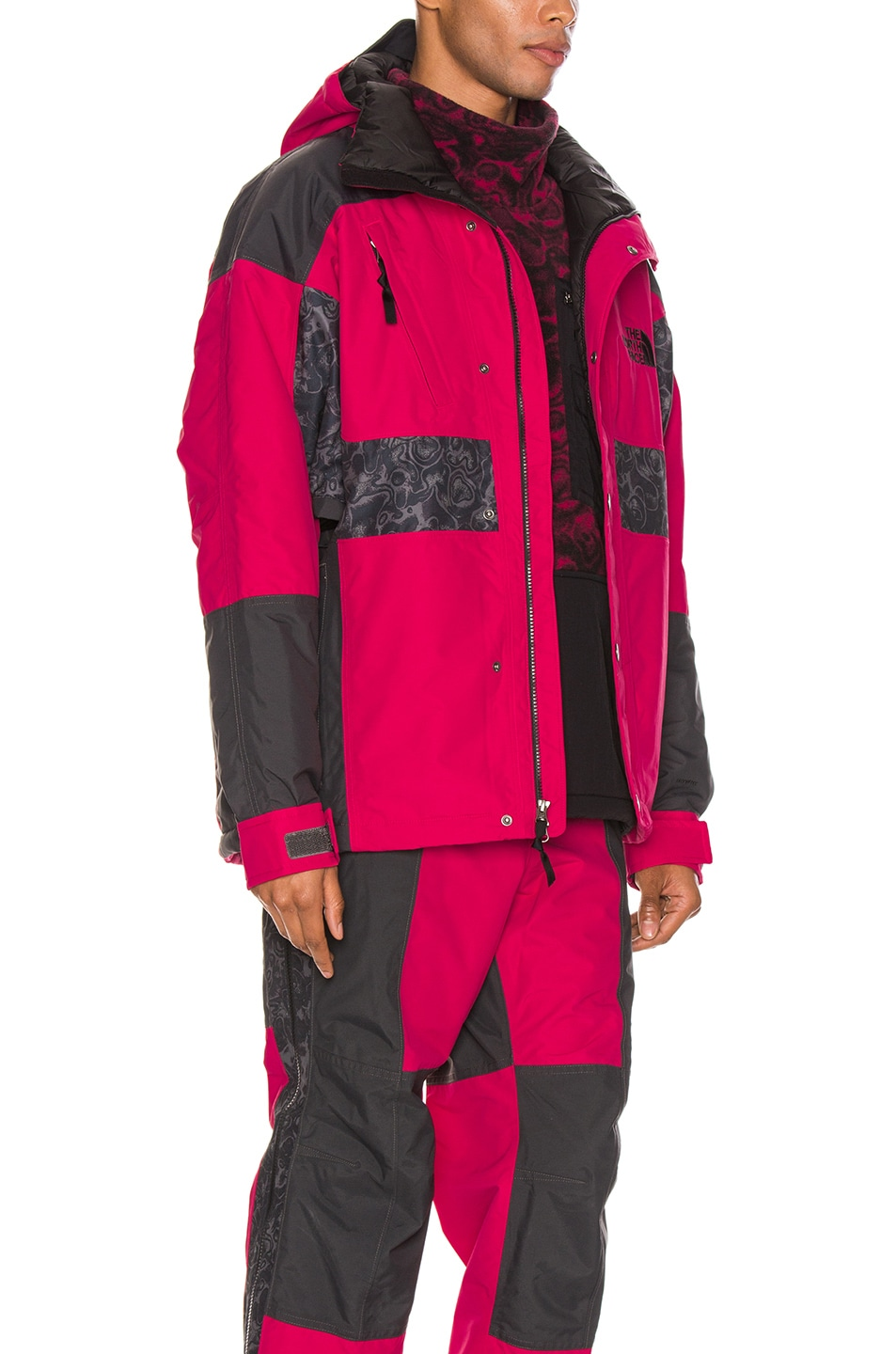 Image 3 of The North Face Black 94 Rage WP Synthetic Insulated Jacket in Rose Red & Asphalt Grey
