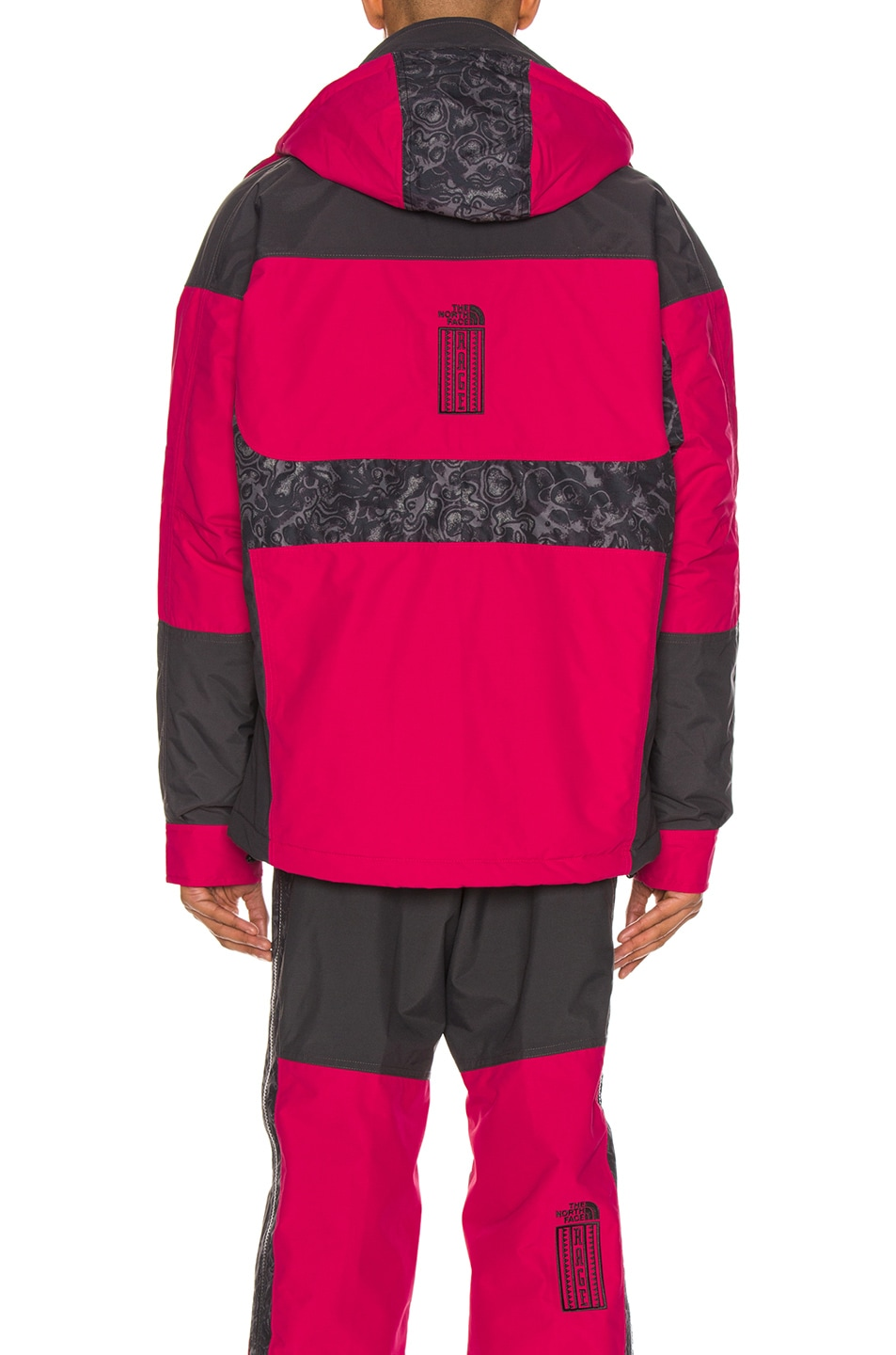 Image 4 of The North Face Black 94 Rage WP Synthetic Insulated Jacket in Rose Red & Asphalt Grey