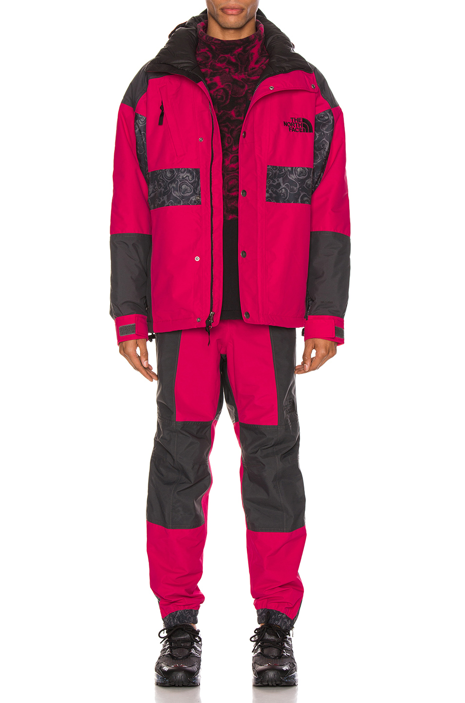 Image 5 of The North Face Black 94 Rage WP Synthetic Insulated Jacket in Rose Red & Asphalt Grey