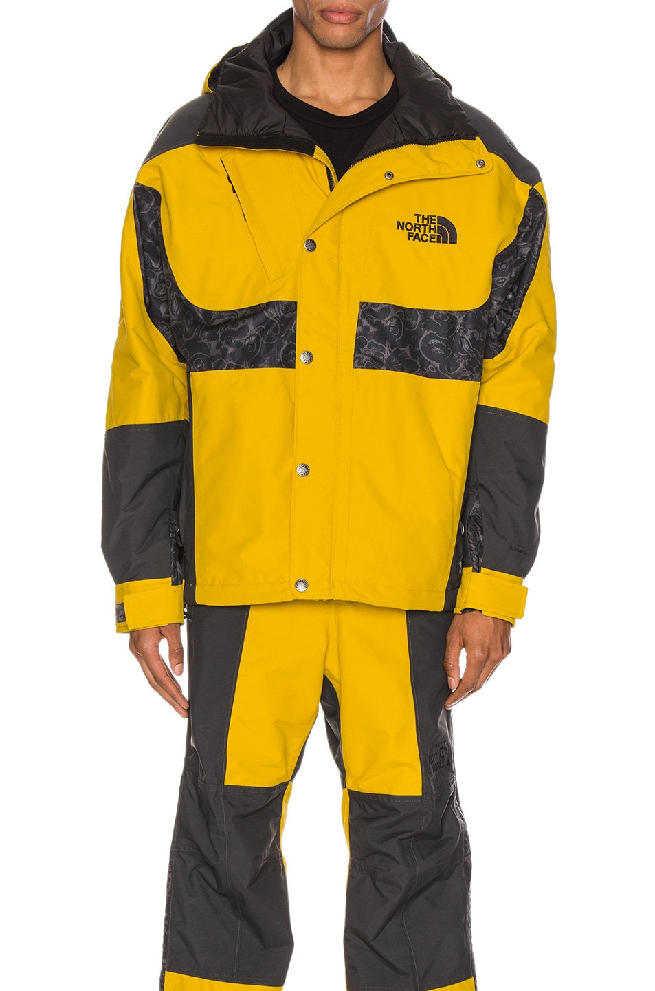 Image 1 of The North Face Black 94 Rage WP Synthetic Insulated Jacket in Leopard Yellow & Asphalt Grey