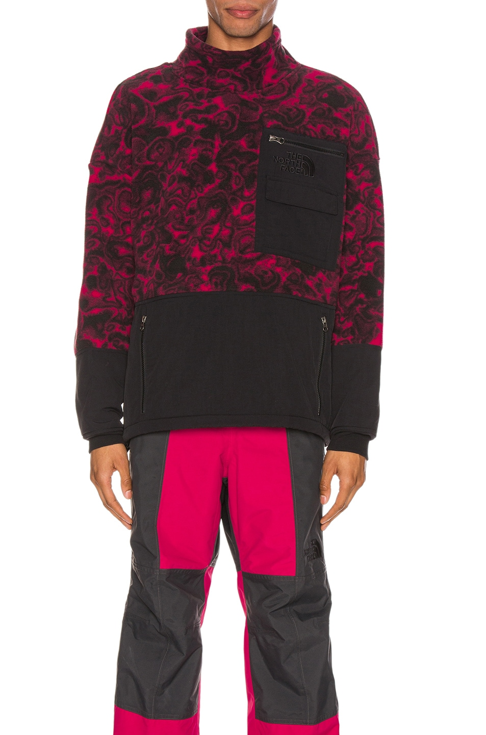 Image 1 of The North Face Black 94 Rage Fleece Pullover in Rose Red