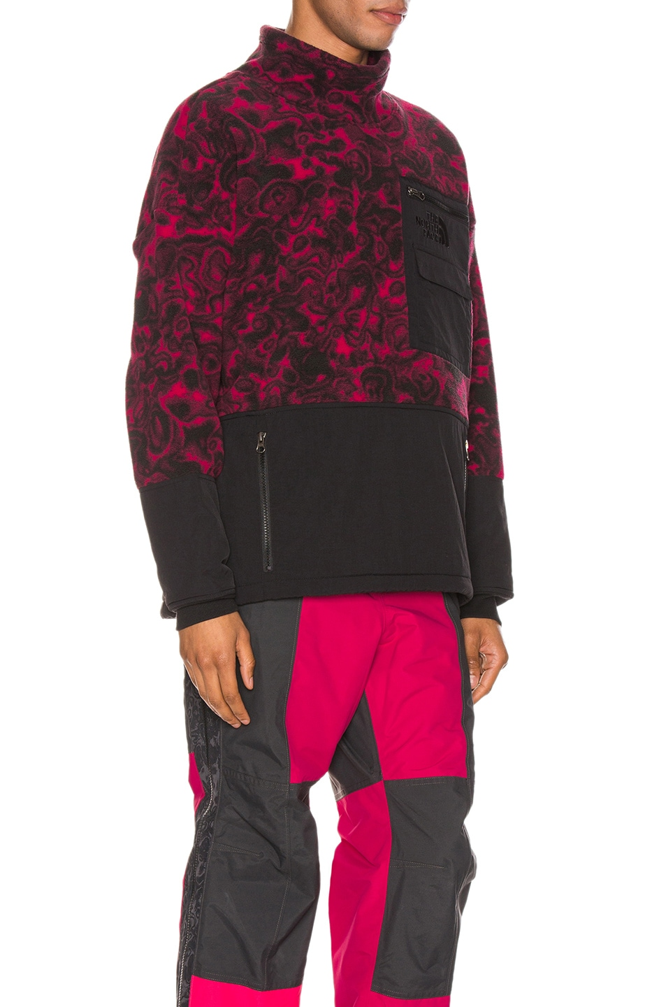 Image 2 of The North Face Black 94 Rage Fleece Pullover in Rose Red