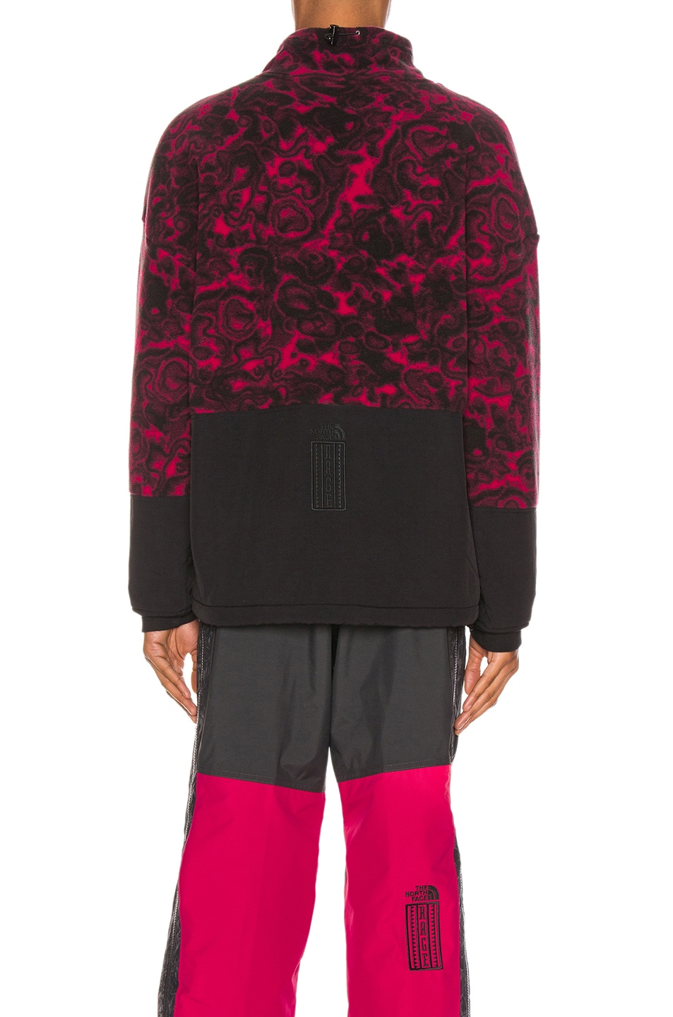 Image 3 of The North Face Black 94 Rage Fleece Pullover in Rose Red