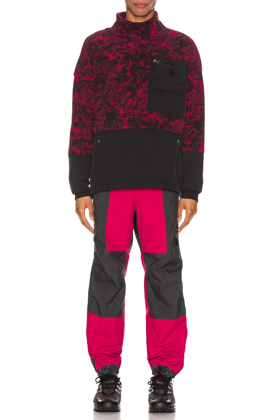 Image 4 of The North Face Black 94 Rage Fleece Pullover in Rose Red
