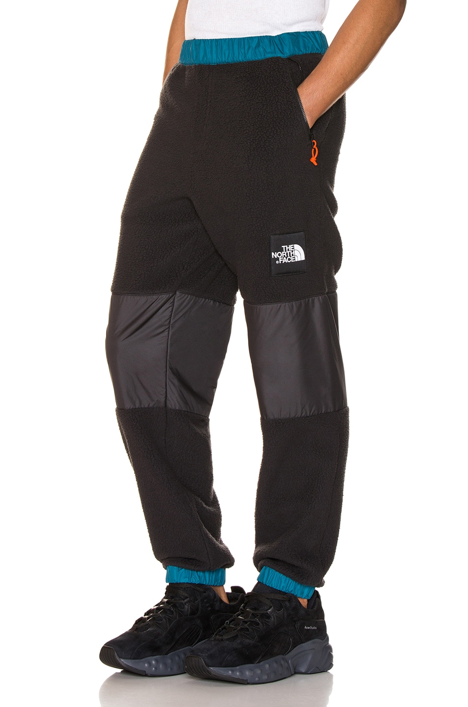 Image 1 of The North Face Black Box Denali Fleece Pant in Blue Coral & TNF Black