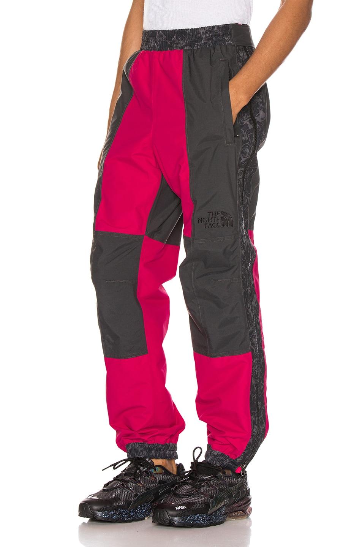 Image 1 of The North Face Black 94 Rage Rain Pant in Rose Red & Asphalt Grey