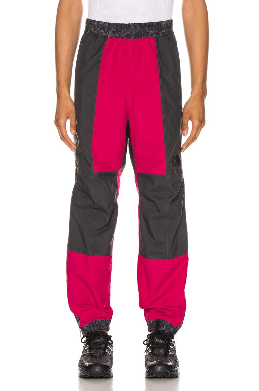 Image 2 of The North Face Black 94 Rage Rain Pant in Rose Red & Asphalt Grey