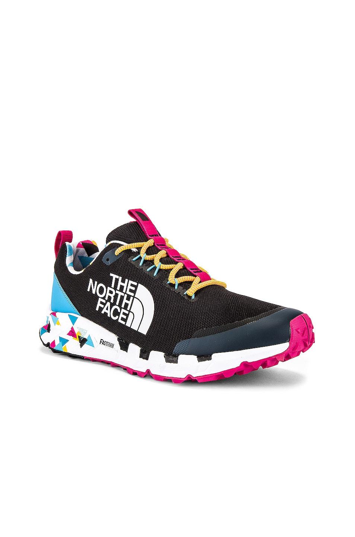 Image 1 of The North Face Black Spreva 90's Sneaker in TNF Black & Aquarius