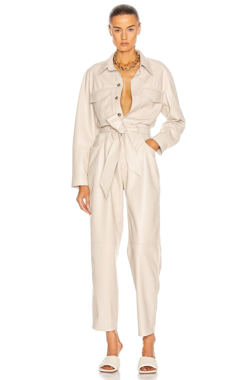 Image 1 of Nanushka Ashton Jumpsuit in Creme