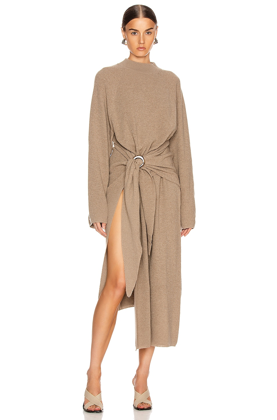 Image 1 of Nanushka Mahali Sweater Dress in Taupe