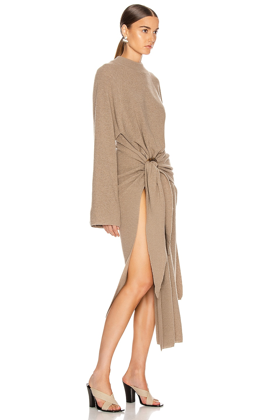 Image 2 of Nanushka Mahali Sweater Dress in Taupe