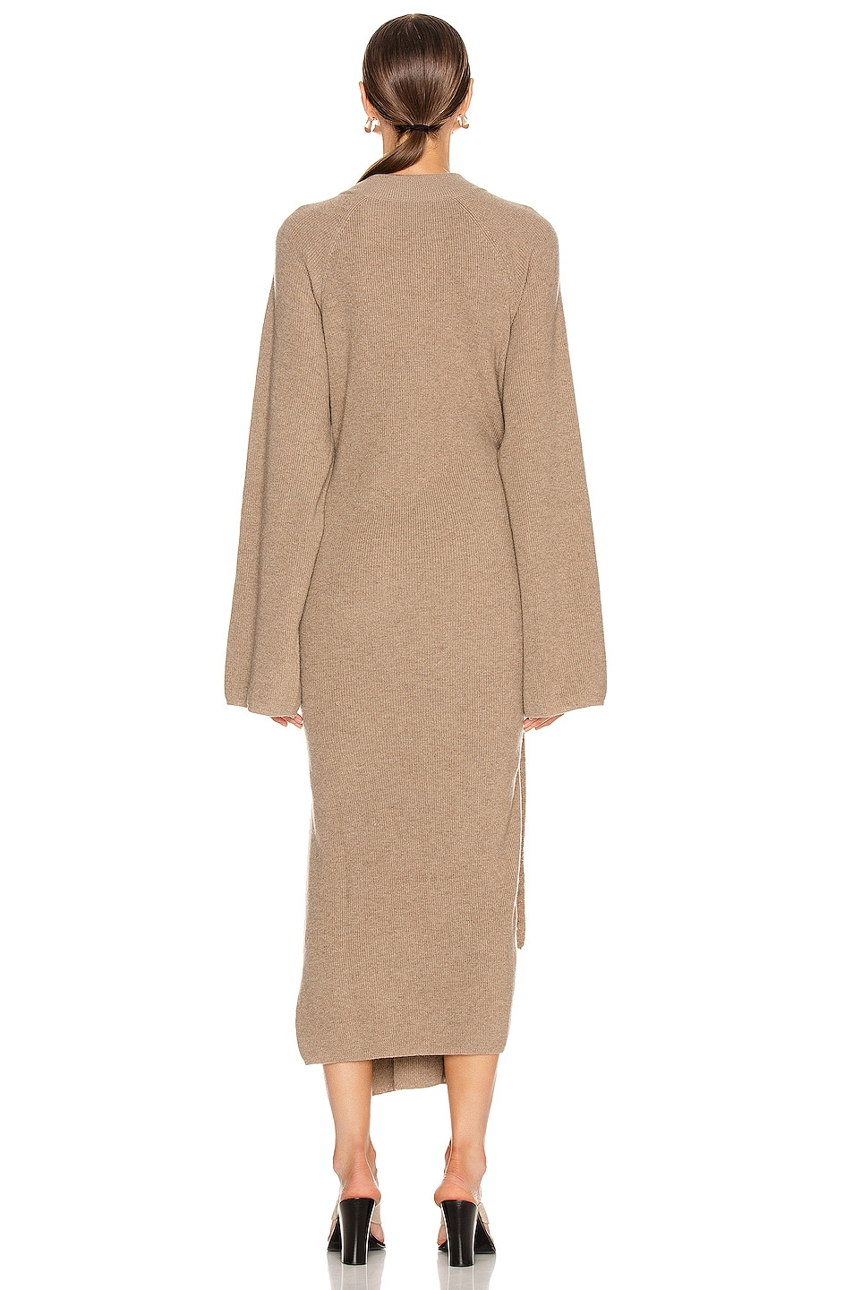 Image 3 of Nanushka Mahali Sweater Dress in Taupe