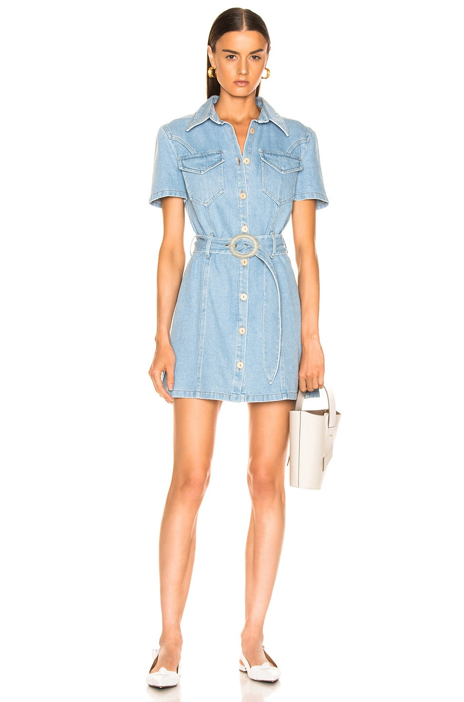 Image 1 of Nanushka Mora Denim Dress in 80's Wash
