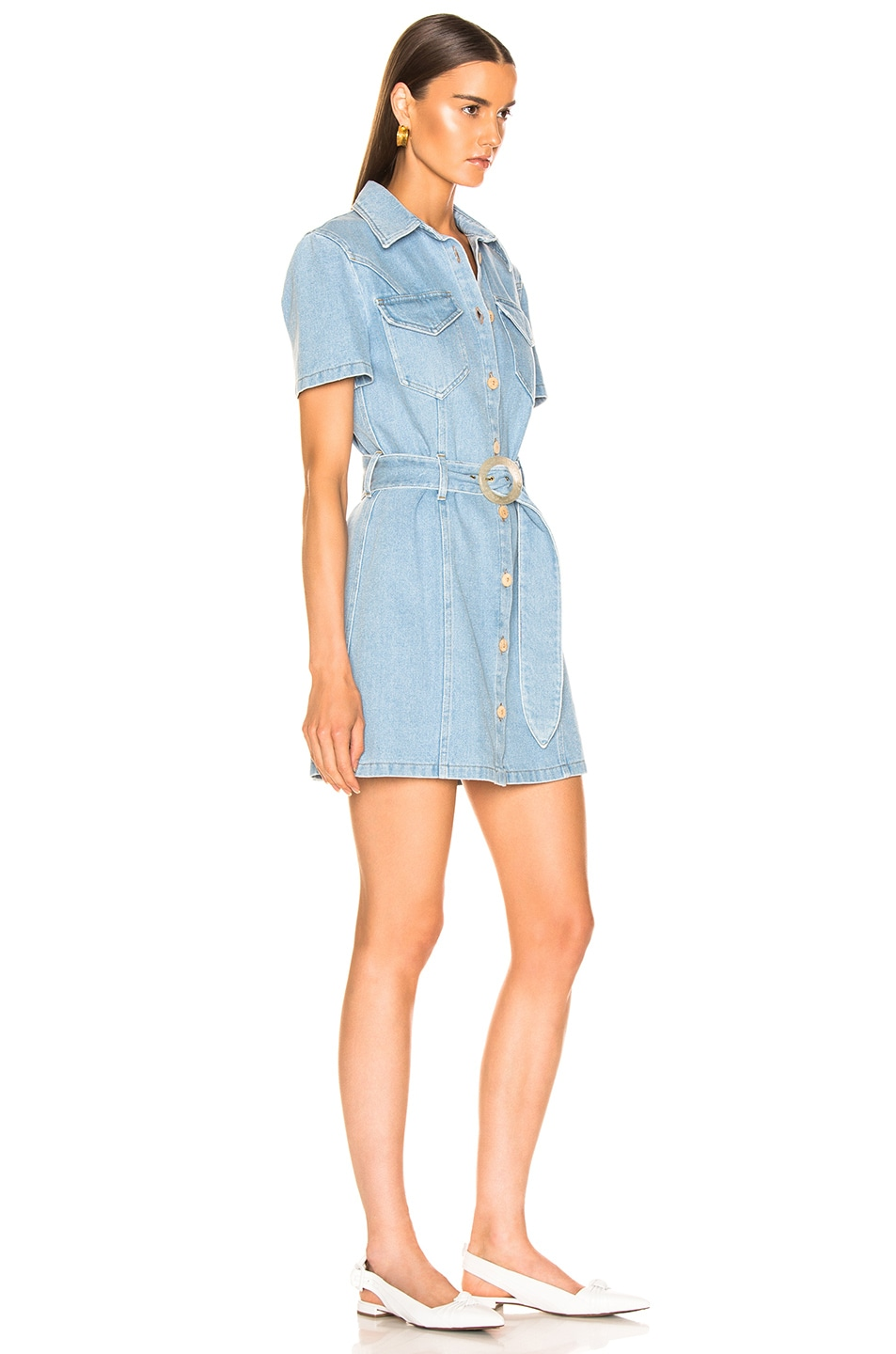 Image 2 of Nanushka Mora Denim Dress in 80's Wash