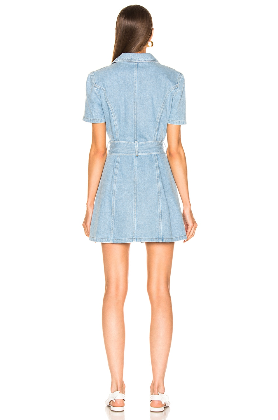 Image 3 of Nanushka Mora Denim Dress in 80's Wash