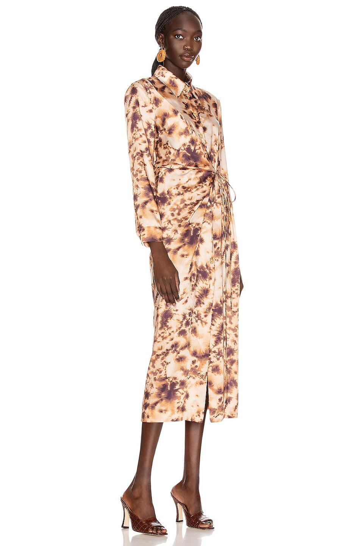 Image 2 of Nanushka Bisso Dress in Tie Dye Print