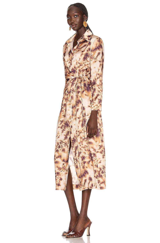 Image 3 of Nanushka Bisso Dress in Tie Dye Print