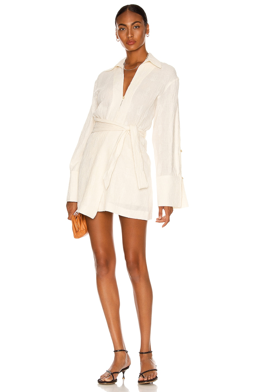 Image 1 of Nanushka Yori Dress in White