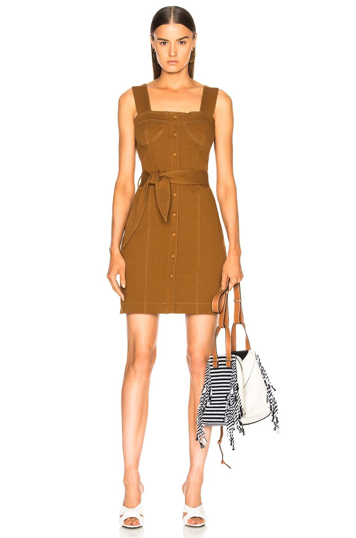 Nanushka Nuria Dress in Brown