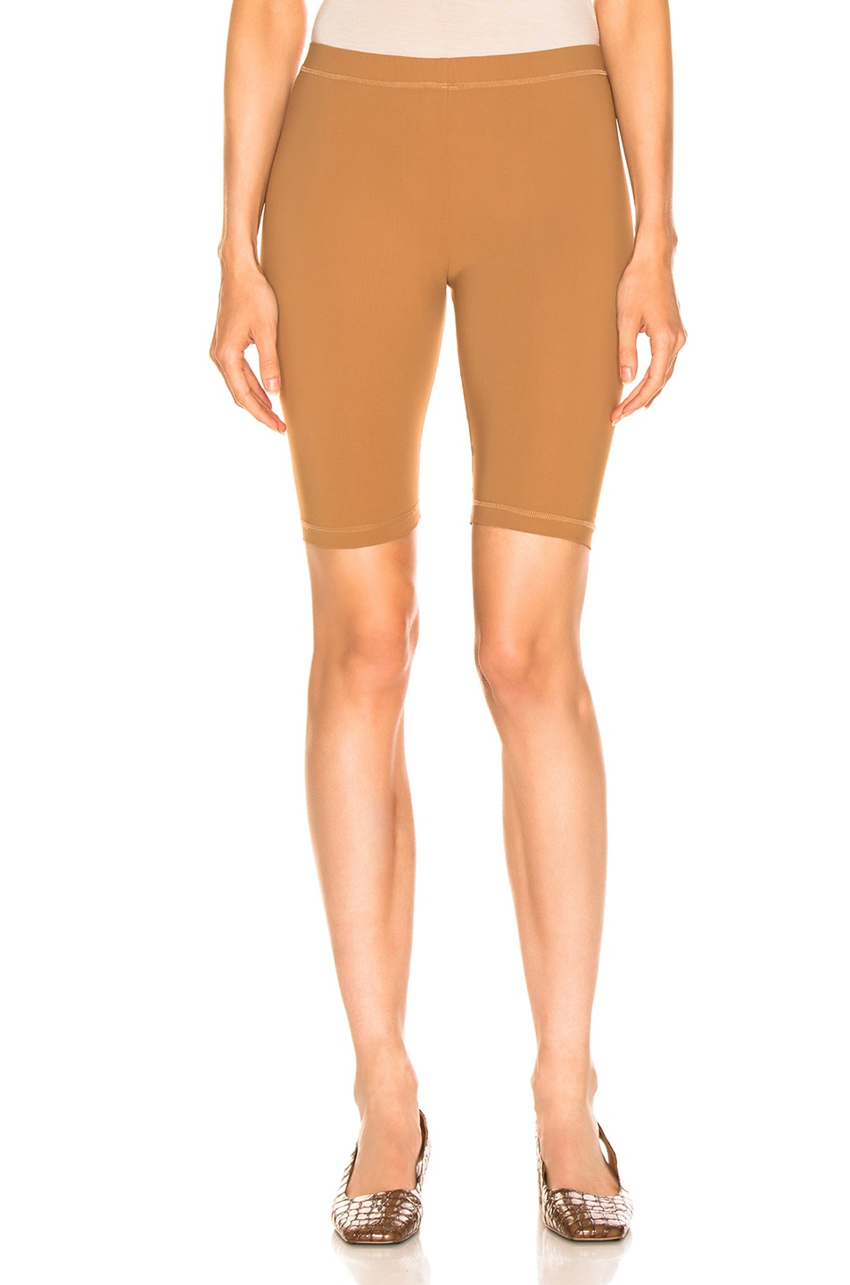 Image 1 of Nanushka Biker Shorts in Brown
