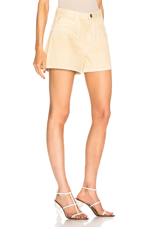 Image 2 of Nanushka Rasa Denim Shorts in Cream