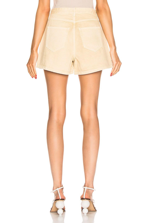 Image 3 of Nanushka Rasa Denim Shorts in Cream