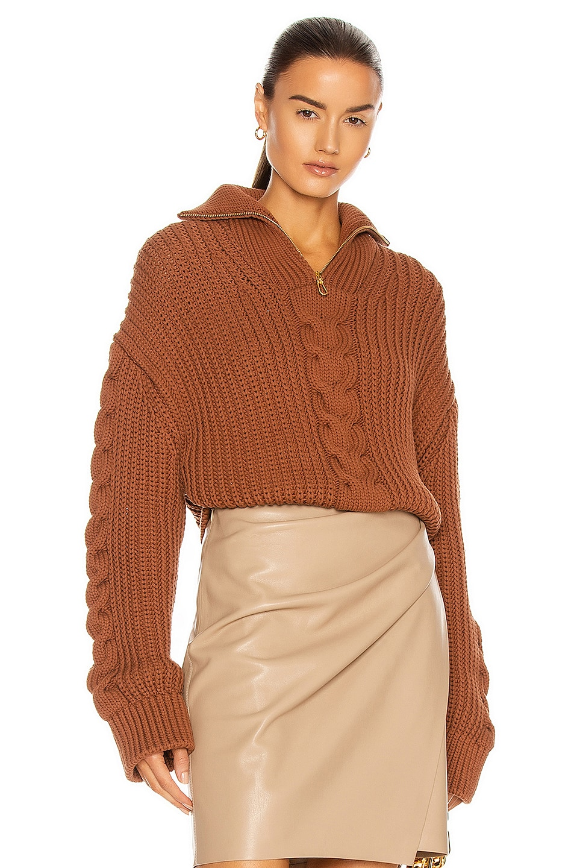 Image 1 of Nanushka Eria Sweater in Brown