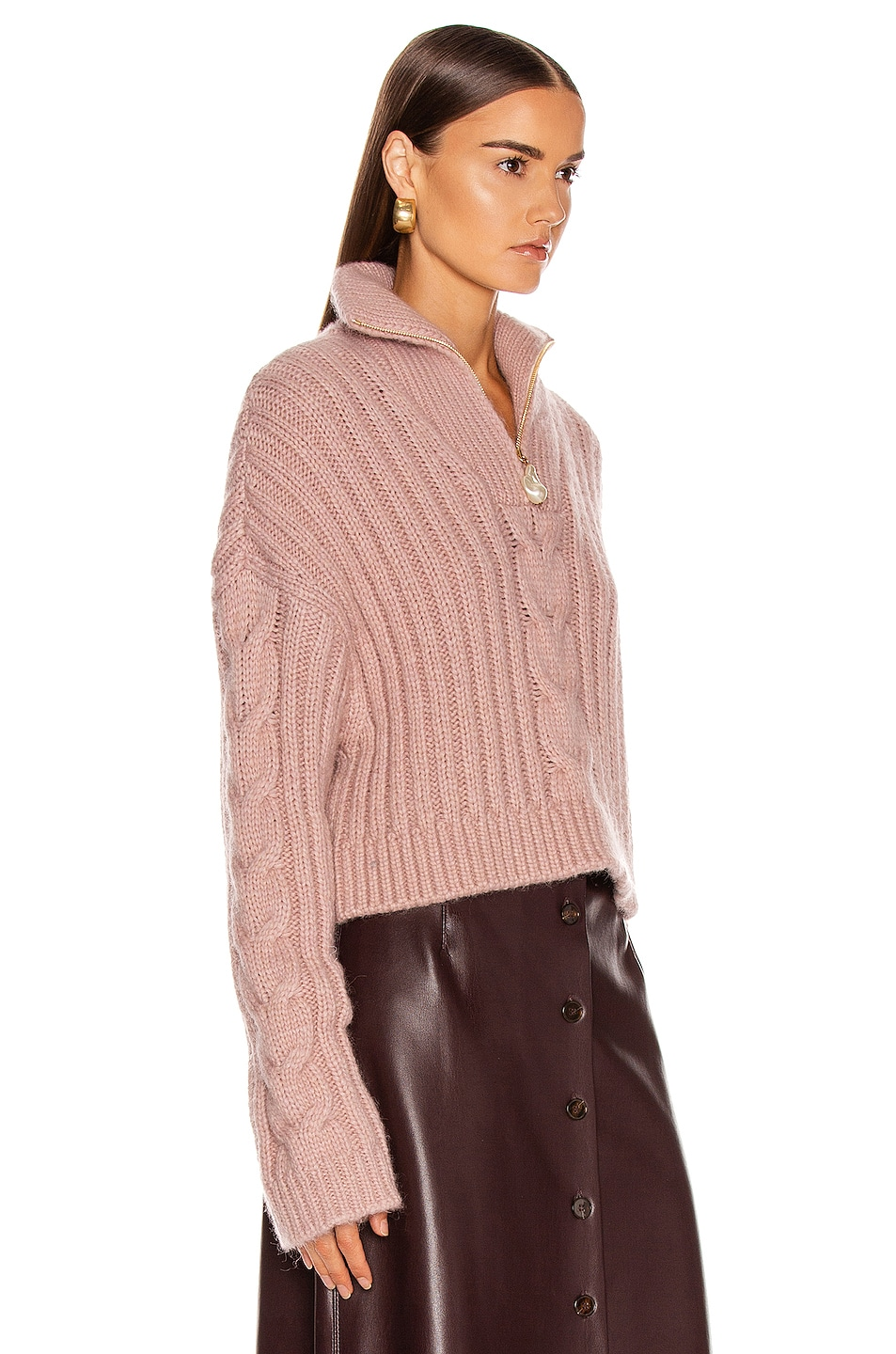 Image 2 of Nanushka Eria Sweater in Pale Pink