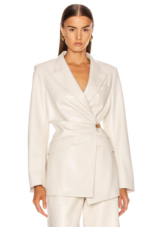 Image 2 of Nanushka Blair Jacket in Off-White