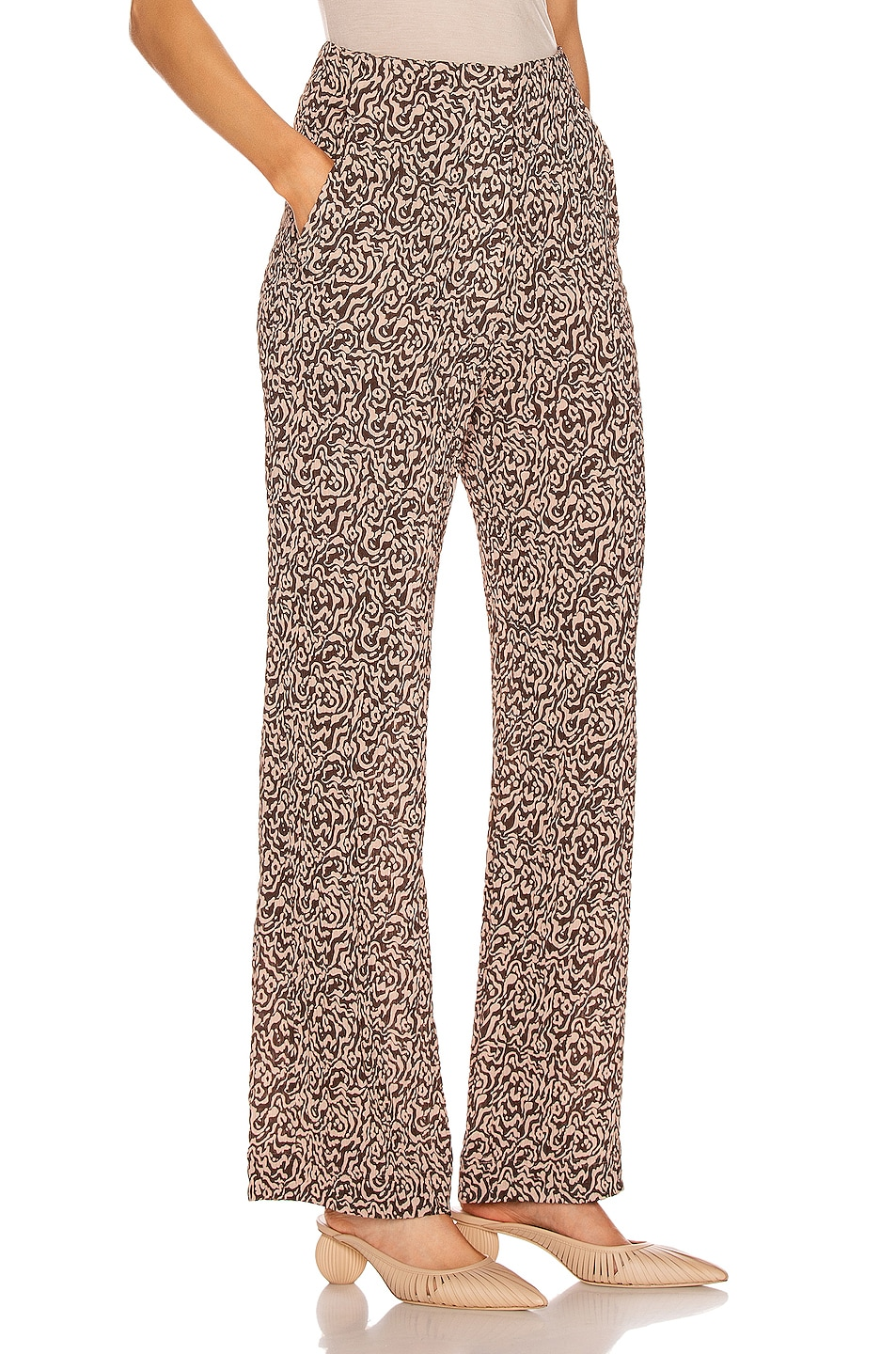 Image 2 of Nanushka Kisa Pant in Graphic Animal Latte