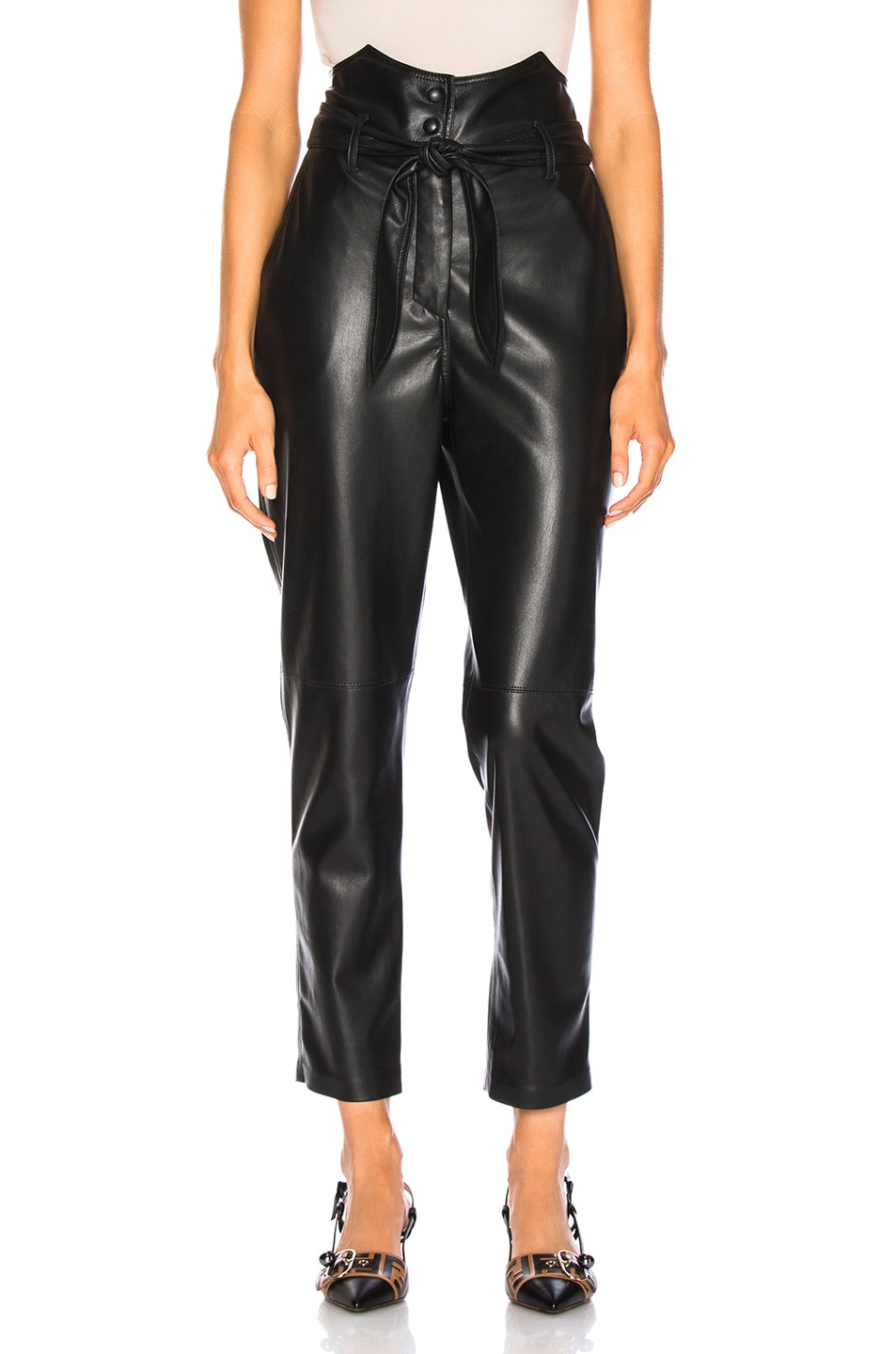 Image 1 of Nanushka Ethan Pants in Black