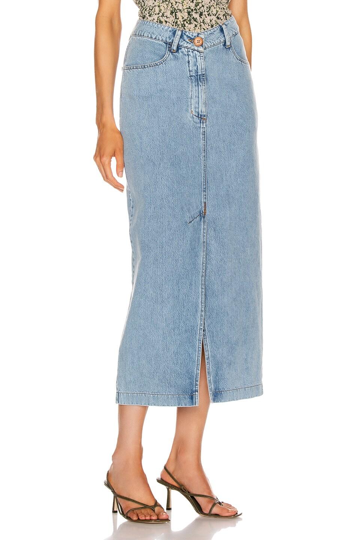 Image 2 of Nanushka Zefir Skirt in Blue Wash