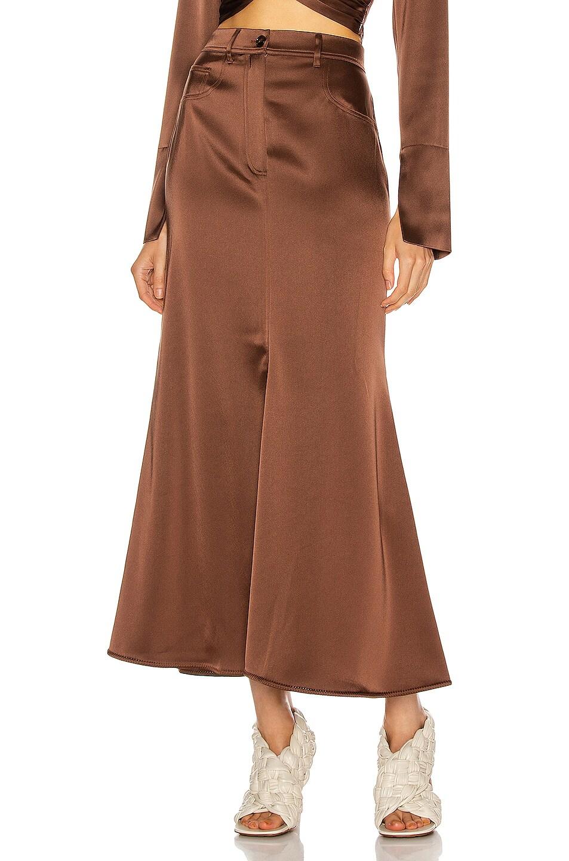 Image 1 of Nanushka Magnolia Skirt in Brown