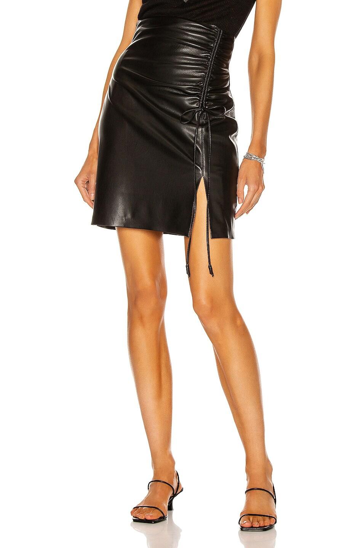 Image 1 of Nanushka Zow Skirt in Black