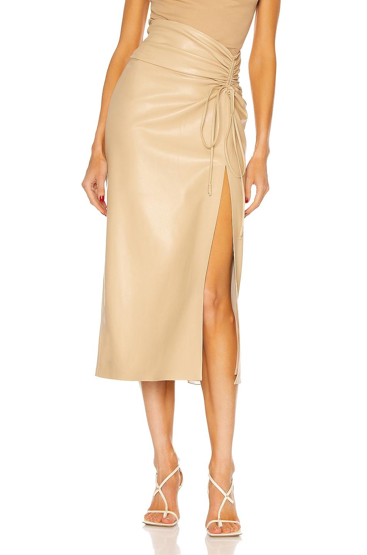 Image 1 of Nanushka Malorie Skirt in Butter